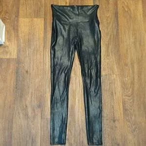 Spanx high waisted black shapewear leggings med